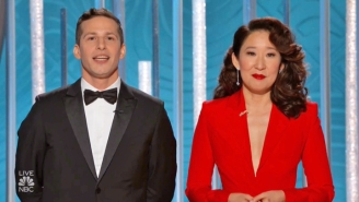 Andy Samberg And Sandra Oh's Golden Globes Monologue Was Hilarious And Poignant