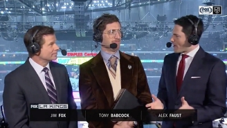 Thomas Middleditch Pretended To Be A Fake Canadian Hockey Broadcaster During A Kings Game