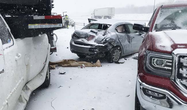 Insane Video Of A Snowy Multi-Vehicle Pileup Near Kansas City Must Be Seen To Be Believed