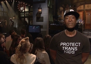 People Are Heaping Praise On Don Cheadle For Wearing A 'Protect Trans Kids' Shirt On 'SNL'
