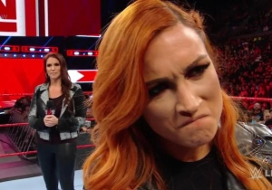 Becky Lynch Opened Raw By Getting Suspended And Fighting Stephanie McMahon