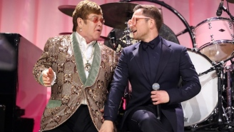 Elton John And 'Rocketman' Star Taron Egerton Duet On A Lively New Song, '(I'm Gonna) Love Me Again'