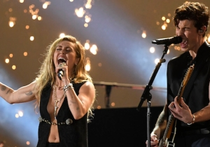 Shawn Mendes And Miley Cyrus' Performance Of 'In My Blood' At The 2019 Grammys Is Fiery And Cathartic