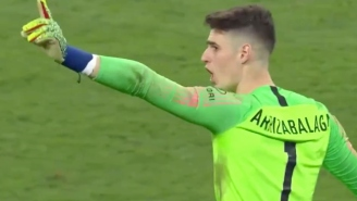 Chelsea's Keeper Refused To Be Subbed Off Against Manchester City Then Gave Up A Hilarious Penalty