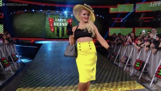 Here's The Reported Reason For Lacey Evans' Weird Elimination Chamber Moment