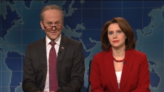 Nancy Pelosi And Chuck Schumer Can't Stop Laughing At Trump During The 'SNL' Weekend Update