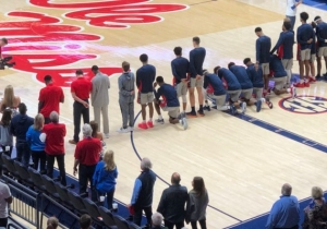 Some Ole Miss Basketball Players Took A Knee During The National Anthem Before Their Game Against Georgia