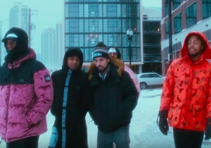 Saba And His Pivot Gang Crew Survive A Cold Snap In Their Chilly 'Jason Statham, Pt. 2' Video