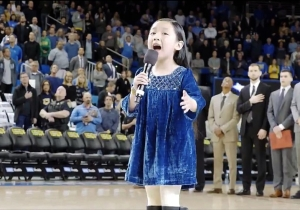A 7-Year-Old Girl Brought The House Down With A Memorable National Anthem Before A UCLA Game