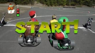 NASCAR Star Kyle Busch Created Real Life Mario Kart At His House