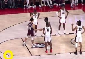 Georgia Lost By 1 On A Technical After A Fan Threw A Stuffed Animal On The Court