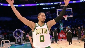 Jayson Tatum Stunned Trae Young In The Skills Challenge Finals With A Halfcourt Shot