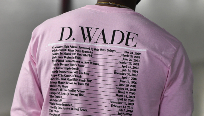 premium selection d2535 b2c28 Dwyane Wade Launched A New Apparel Line Honoring His Final ...