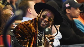 2 Chainz Gave LeBron A Chain From Off His Neck After Passing Michael Jordan