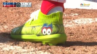 Bryce Harper Wore Phillie Phanatic Cleats For His Phillies Debut