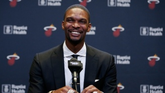 Watch The Miami Heat Honor Chris Bosh By Retiring His Jersey