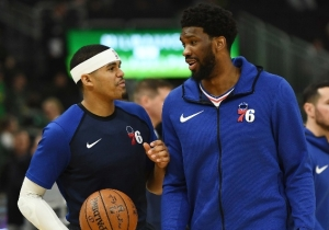Joel Embiid Couldn't Trick Tobias Harris Into Saying He'll Re-Sign With The Sixers
