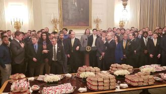 Donald Trump Served Another College Football Team Fast Food At The White House