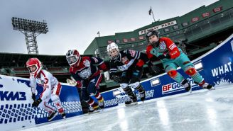 Crashed Ice At Fenway Park Is The Most Extreme Sport Played In America's Oldest Ballpark