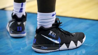 Zion Williamson Rocked Custom Kyrie 4s During Duke's Win Over Virginia Tech