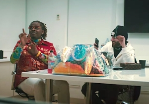 Gunna's Drip-Obsessed 'Richard Millie Plain' Video Is An Iced-Out Laser Light Show