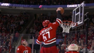 The Carolina Hurricanes Celebrated A Win With A Hilarious March Madness-Inspired Celebration