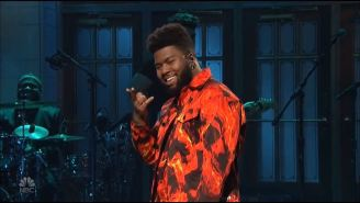 Khalid's Powerful Falsetto On 'Talk' Shines In His Debut 'SNL' Performance