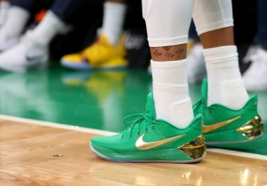 Isaiah Thomas' Green And Gold Shoes Were Originally Made For The 2017 NBA Finals