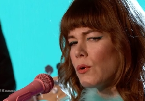 Jenny Lewis Brought Classic Rock To 'Kimmel' By Performing Two Songs From Her New Album