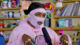 Leikeli47 Throws A Jazzy Twist On Her Electro-Rap Hits In Her Tiny Desk Concert Debut