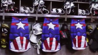 A Minor League Hockey Team Made Some Incredible Captain America Uniforms