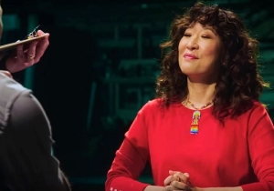 Sandra Oh Is A Marshmallow-Chomping Maniac In This Promo For Her 'SNL' Hosting Gig