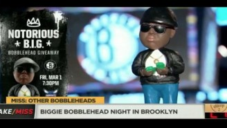 The Brooklyn Nets Gave Away Bobbleheads To Honor The Notorious B.I.G.