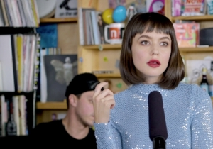 Meg Myers Brought Her Glittering Fury To An Electric Tiny Desk Set