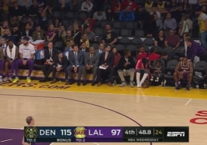 Rajon Rondo Sat In A Courtside Seat, Not On The Bench, Late In The Lakers Latest Loss