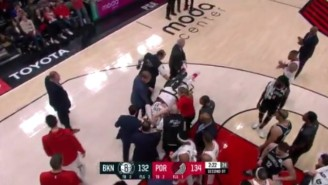Jusuf Nurkic Was Stretchered Off The Floor With A Gruesome Leg Injury Against The Nets