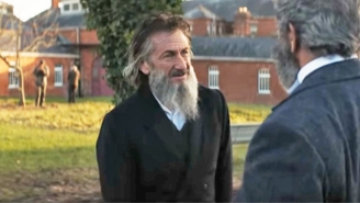 Sean Penn And Mel Gibson Have A Beard-Off Competition In 'The Professor And The Madman' Trailer