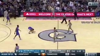 A Seton Hall Defender Slapped The Floor At Georgetown And Got Completely Embarrassed