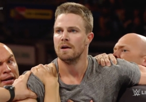 Stephen Amell And Dave Bautista Are Feuding About Celebrities In WWE