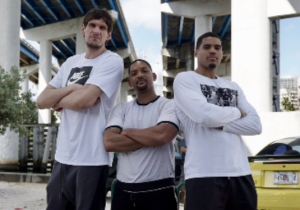 Boban Marjanovic And Tobias Harris Hung Out With Will Smith In Miami On The 'Bad Boys For Life' Set