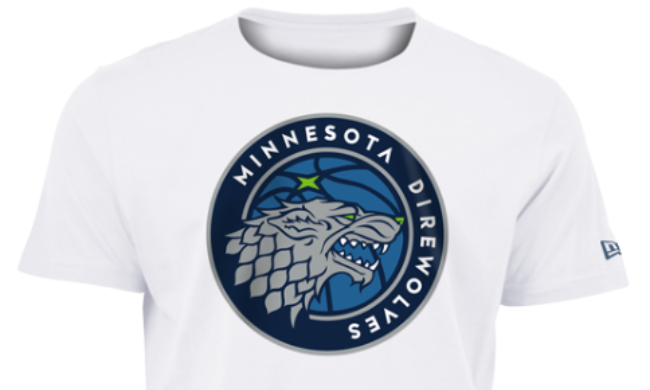 timeless design bc0f3 81744 The Timberwolves Release 'Direwolves' Merch For 'Game Of ...