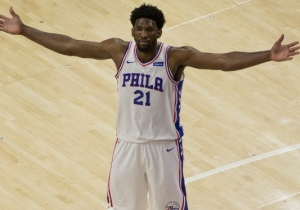Joel Embiid Trolled The Warriors After The Sixers' Game 4 Win Over The Nets