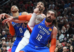 Enes Kanter Came Up Big In The Blazers' Game 1 Win Over The Thunder