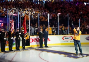 Gavin DeGraw Wiped Out After Singing The National Anthem Before A Nashville Predators Playoff Game