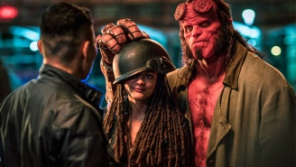 'Hellboy' Is A Gloriously Silly, Gratuitously Gory, Satanic Thrash Metal Poster Come To Life