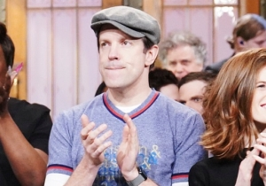 Jason Sudeikis Low-Key Paid Tribute To Kristen Wiig, Andy Samberg And Bill Hader During The 'SNL' Closing