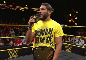 NXT Champion Johnny Gargano Threw Out The First Pitch And Pinned A Giant Hot Dog In Cleveland