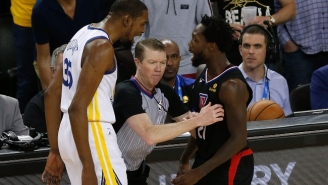 Kevin Durant And Patrick Beverley Were Ejected After Getting Two Double Technicals In 19 Seconds