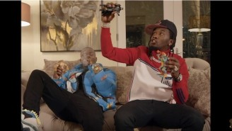 DaBaby And Offset Throw Monopoly Money And Act Like Children For The Hilarious 'Baby Sitter' Video