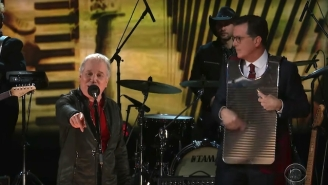 Paul Simon Performed 'That Was Your Mother' With Stephen Colbert On Washboard